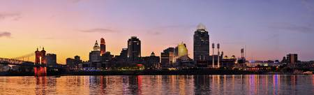 Cincinnati Riverfront Sunset