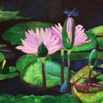 """Lily Pad in Black"" by DeVonna"