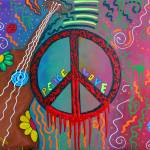 """Peace and Love 2"" by ArtPrints"