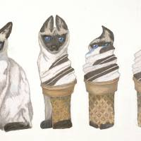 Cat On A Cold Tin Roof Art Prints & Posters by Amber Mosure