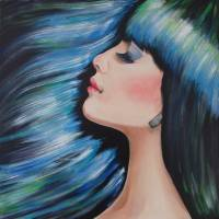 Blue Mermaid Dreams Art Prints & Posters by Wendy Middlemass