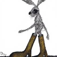 """HARE IN BOOTS"" by Dawn Barker"