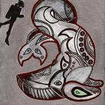 """Scuba Beluga"" by GroffArt"