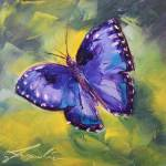 """Flutter By"" by jacquelinebrewerart"