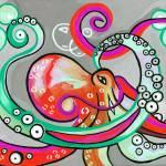 """Pinktapus"" by GroffArt"