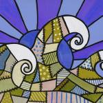 """Beige Quilt Waves"" by GroffArt"