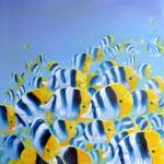 """""""blue and yellow fish"""" by gillymissile"""