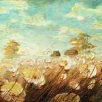 """Field of White Blossoms II"" by ChristopherClark"