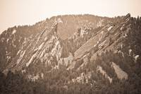 Second and Third Flatirons Boulder Colorado Sepia