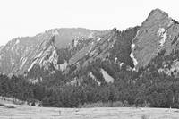 Three Flatirons Boulder Colorado Black and White