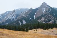 Three Flatirons Boulder Colorado Winter View