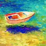 """boat in the ocean painting Svetlana Novikova"" by SvetlanaNovikova"