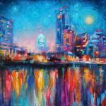 """impressionistic austin art painting novikova"" by SvetlanaNovikova"
