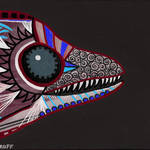 """Purple Eel Eater"" by GroffArt"