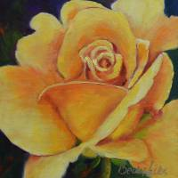 Yellow Rose of Texas Art Prints & Posters by Becky Hicks