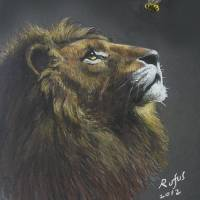 """Lion and the bee"" by Antony Rufus"