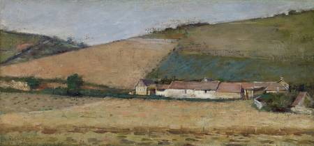 A Farm Among Hills, Giverny, c.1887 (oil on canvas