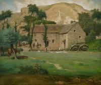 The Farm House, c.1867-69 (pastel on wove paper, l