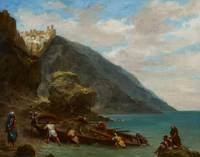View of Tangier from the Seashore, 1856-8 (oil on