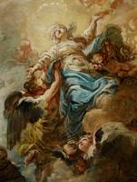 Study for the Assumption of the Virgin, c.1760 (oi