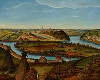 View of Fort Snelling, c.1850 (oil on canvas)