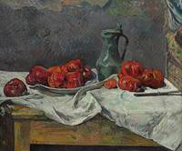 Still life with tomatoes, 1883 (oil on canvas)