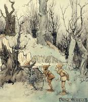 Elves in a Wood, 1908 (pen & ink with w/c on paper