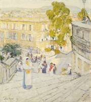 The Spanish Steps of Rome, 1897 (oil on canvas)