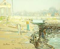 The Mill Dam, Cos Cob, 1903 (pastel on paper)