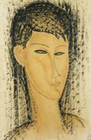 Head of a Young Women; Tete de Jeune Femme, 1914 (