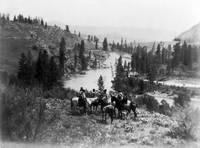 Seven Spokane Men on Horseback