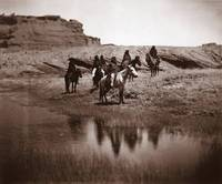 Six Navajo on Horseback