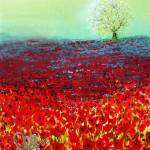 """Red Fields"" by DavidKaz"