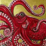 """Red Octopus"" by LynnetteShelley"