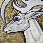 """White Stag II"" by LynnetteShelley"