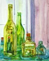 Shades of Green - Bottles