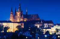 Prague Saint Vitus Cathedral in night