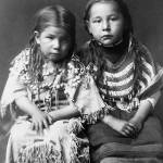"""Bull Shoe's Children (Piegan), Montana, c. 1910"" by ArtLoversOnline"