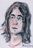 Portrait  Drawing of John Lennon 1982