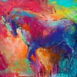 """Vibrant Stallion horse painting print"" by SvetlanaNovikova"