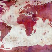 """World Map Watercolor"" by Paulette Wright"