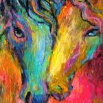 """impressionistic horses painting svetlana novikova"" by SvetlanaNovikova"