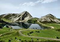 Enol lake in Covadonga, Asturias