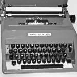 """Black and White Typewriter"" by midcenturymodern"