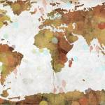 """World Map Watercolor 3"" by WrightFineArt"