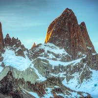 Mount Fitzroy at sunset, Patagonia Art Prints & Posters by Harry Kikstra