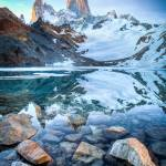 """Mount Fitzroy reflected Laguna de los Tres, Patago"" by ExposedPlanet"
