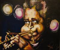 Portrait of Dizzy Gillespie
