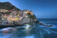 Moon over Manarola - the Cinque Terre