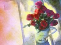 Red Roses in Pitcher